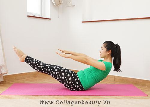 Bài tập giảm cân đơn giản với việc nâng đầu và chân