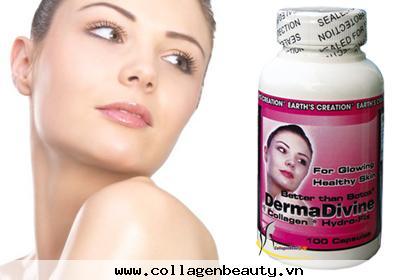 Collagen Derma Divine giúp mờ các vết thâm nám sạm da