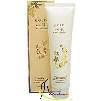 Sữa rửa mặt sâm vàng My Gold - Trắng da ngăn ngừa mụn trẻ hóa làn da
