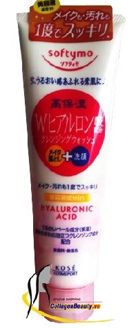 Sữa Rửa Mặt Kose Softymo Hyaluronic Acid tẩy trang dành cho da khô