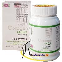 Viên uống bổ sung Collagen +AEC 12000mg Ahlozen 180 viên nhập khẩu chính hãng từ Mỹ