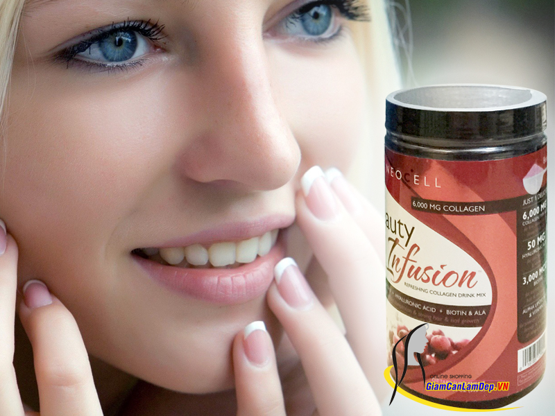 Bột Neocell Collagen Beauty Infusion 6000mg Crawberry Cocktail