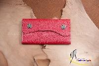Ví Da Nữ Kiểu Ngang Cầm Tay Nút Bấm Handmade Olug Mã SP 999