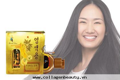 Dầu Gội Làm Đen Tóc Hàn Quốc Beauty Star giúp làm đen và phục hồi tóc hư tổn cho bạn mái tóc đen mượt tự nhiên.