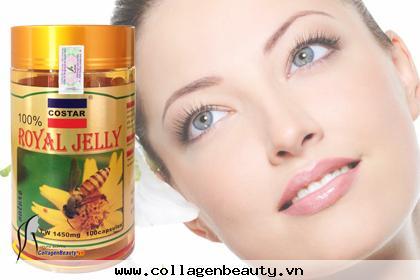 Sữa ong chúa 1450mg costarhỗ trợ tăng quá trình trao đổi chất nhờ đó cơ thể trẻ lâu